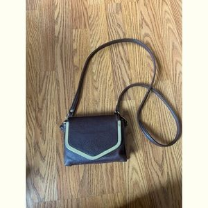 Charming Charlie's Dark Chocolate Crossbody Purse
